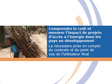 Étude : « Comprendre le coût et mesurer l'impact de projets d'accès à l'énergie dans les pays en développement »