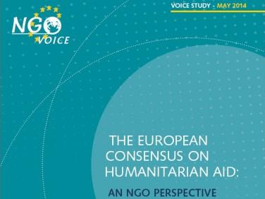 Le consensus européen sur l'aide humanitaire – Voice
