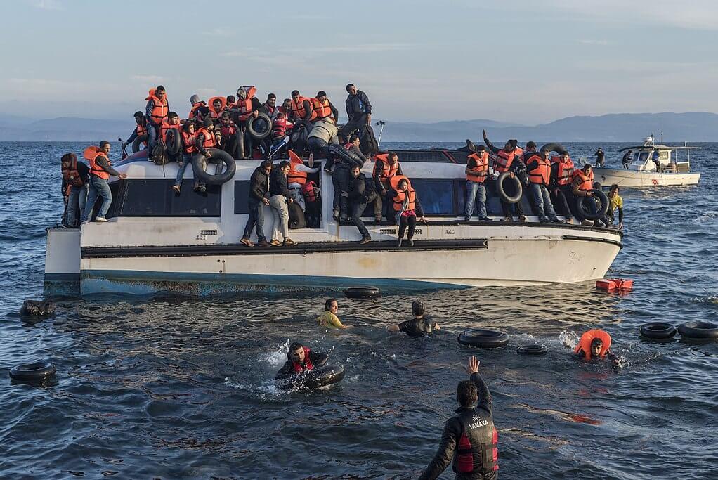 Réfugiés à Lesbos (Grèce)