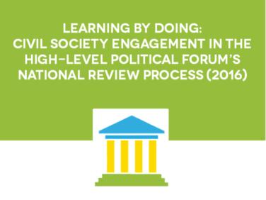 """Rapport A4SD : """"L'apprentissage par la pratique, l'engagement de la société civile dans le processus de rédaction des rapports nationaux volontaires au HLPF"""""""