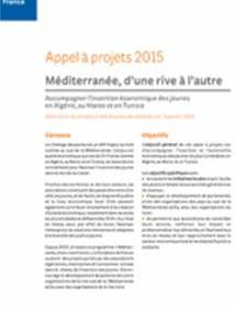"""Appel à projets """"Méditerranée d'une rive à l'autre"""" 2015 – Fondation de France"""