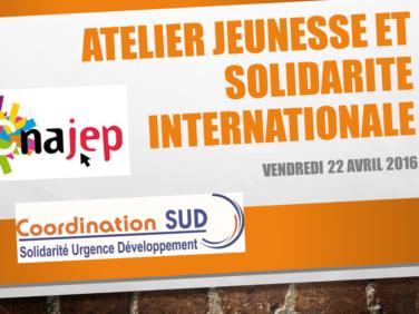 Jeunesse et Solidarité internationale : de nouvelles perspectives