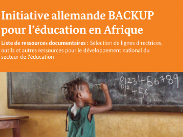 Initiative allemande BACKUP  pour l'éducation en Afrique