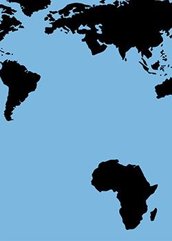 Continent africain éloigné