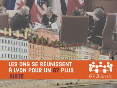 Les ONG se réunissent à Lyon pour un G7 plus juste