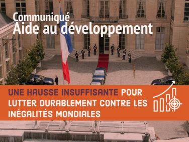 Aide française au développement: Une hausse insuffisante pour lutter durablement contre les inégalités mondiales