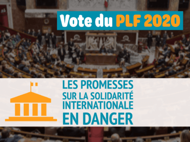 Budget 2020 : les promesses sur la solidarité internationale en danger