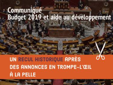 Budget 2019 et aide au développement: un recul historique après des annonces en trompe-l'œil à la pelle