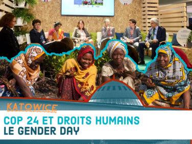 11 décembre 2018: un Gender day à la COP24!