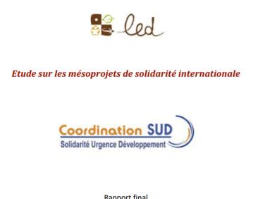 Etude sur les mésoprojets de solidarité internationale