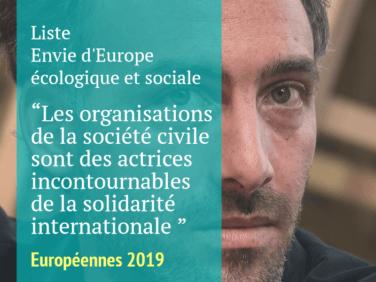 Pour la liste menée par Raphaël Glucksmann, les organisations de la société civile sont des actrices incontournables de la solidarité internationale