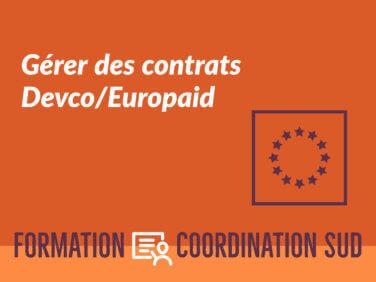 Gérer des contrats Devco/Europaid – niveau débutant