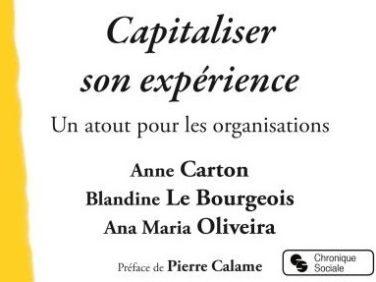 Capitaliser son expérience, un atout pour les organisations (ouvrage)