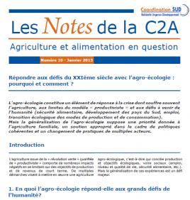 Les Notes de la C2A