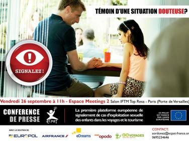 Conférence de presse – ECPAT lance une plateforme de signalement des cas d'abus sexuels sur enfants dans le tourisme