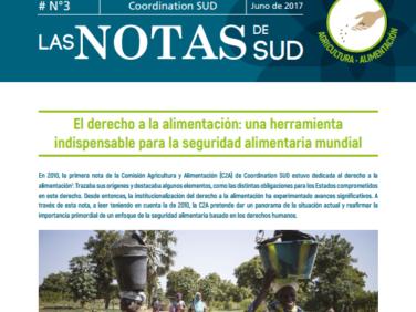 Las Notas de SUD – Agricultura y alimentación (anteriormente Las Notas de la C2A)