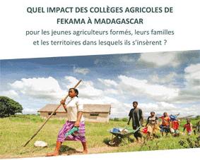 Synthèse de l'étude d'impact des collèges agricoles à Madagascar – Fert