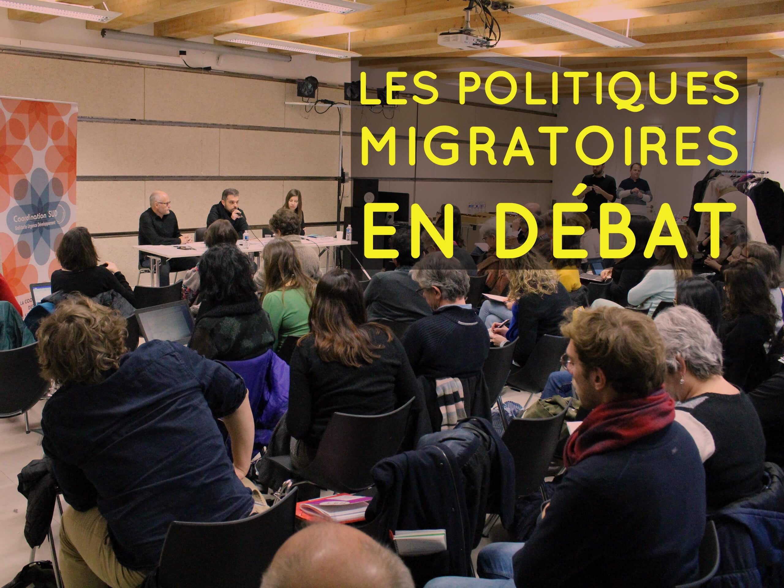 rencontre débat sur les migrations organisées par Coordination SUD