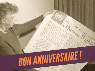 70e anniversaire de la Déclaration universelle des droits de l'Homme