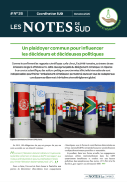 Couverture de la Notes de SUD 26