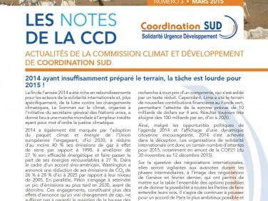 Les Notes de la CCD n°4: Les enjeux de la CCD en 2015