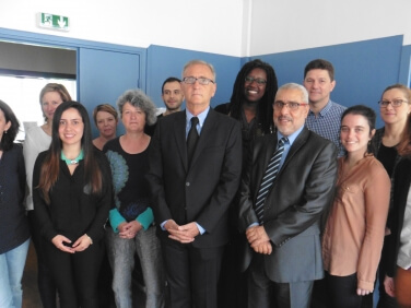 Visite d'André Vallini aux organisations de solidarité internationale