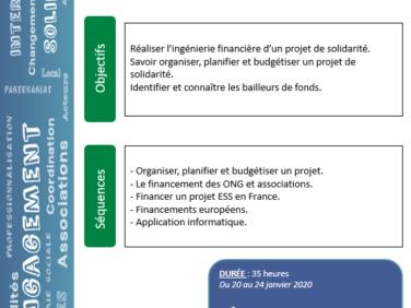 Prévisions opérationnelles et Stratégies de financement