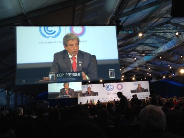 Actualité de la COP 20 à Lima – 12 décembre 2014
