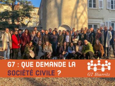 G7: que demande la société civile?