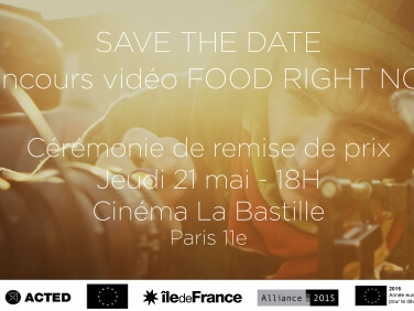 Cérémonie de remise de prix – Concours vidéo Food Right Now ! – ACTED