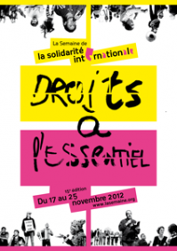 Semaine de la solidarité internationale 2012