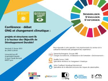 Conférence-débat «ONG & Changement Climatique: projets et structures sont-ils à la hauteur des ODD?»