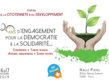 Participez au Forum de la citoyenneté & du développement