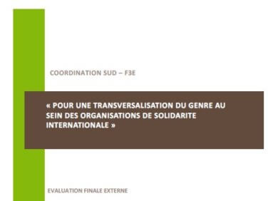 Evaluation du projet «Pour une transversalisation du genre au sein des organisations de solidarité internationale»