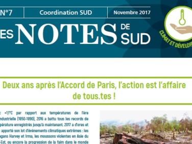 Deux ans après l'Accord de Paris, l'action est l'affaire de tous.tes! – Notes de SUD #7