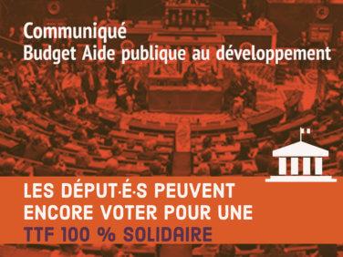 Les député·e·s peuvent encore voter pour une taxe sur les transactions financières 100% solidaire