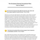 Le vrai ou le faux du plan d'investissement extérieur de l'Union européenne