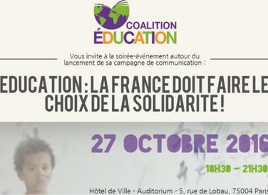 Soirée : «Education : La France doit faire le choix de la solidarité»