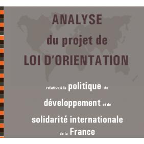 Analyse du projet de loi d'orientation relative à la politique de développement et de solidarité internationale