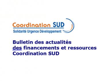 Evaluation du bulletin des actualités des financements et ressources