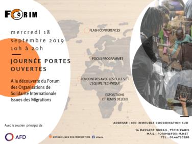 JOURNÉE PORTES OUVERTES du FORIM, 18 septembre 2019