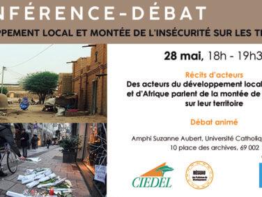 Conférence-débat Développement local et montée de l'insécurité sur les territoires