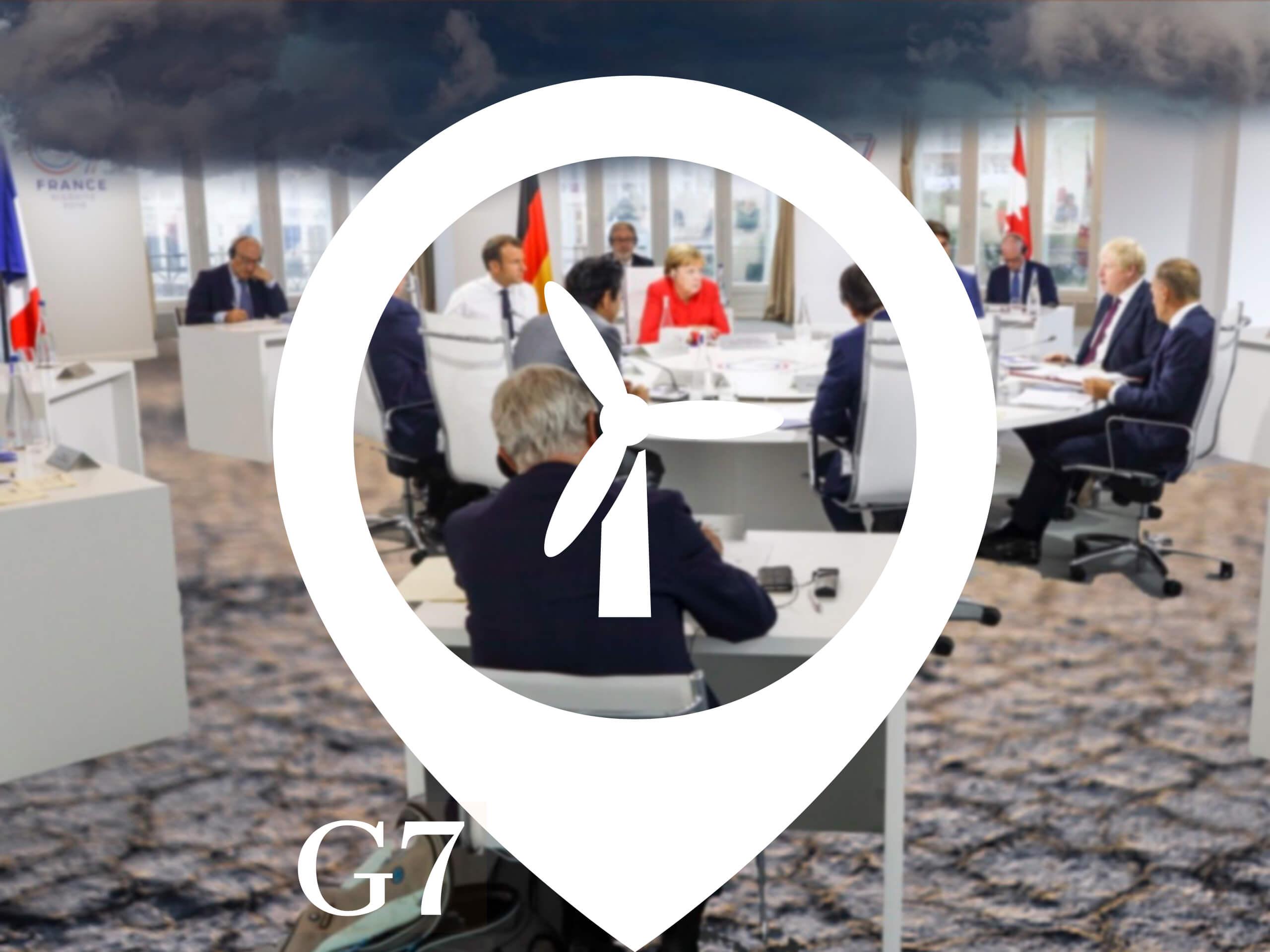 Les leaders du G7 en réunion