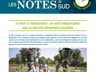 Les Notes de SUD n°3: Le droit à l'alimentation, un outil indispensable pour la sécurité alimentaire mondiale