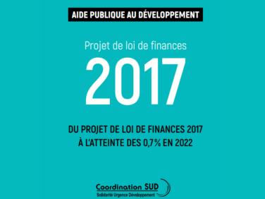 Document d'analyse «Du projet de loi de finances 2017 à l'atteinte des 0,7 % en 2022»