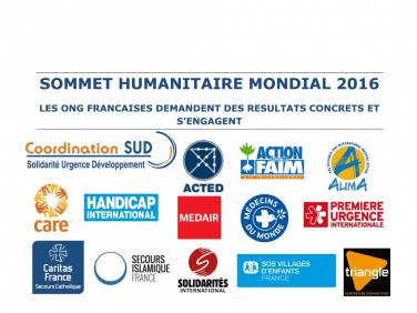 Engagements et demandes des ONG françaises pour le Sommet humanitaire mondial