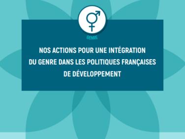 Les actions de Coordination SUD pour une intégration du genre dans les politiques françaises de développement