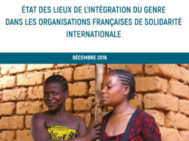 Étude « État des lieux de l'intégration du Genre dans les organisations françaises de la solidarité internationale »