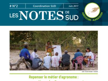 Les Notes de SUD n°2: Repenser le métier d'agronome, vers une démarche d'accompagnement