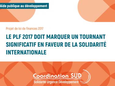 Arbitrages budgétaires sur les crédits de la mission « aide publique au développement » : les demandes de Coordination SUD